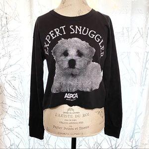 ASPCA XXI expert snuggler puppy crop sweater top